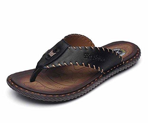 Hommes mode en cuir tongs 2018 été nouvelles sandales fraîches tendance pantoufles