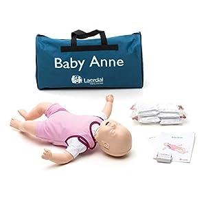 Leardal Baby Anne Übungspuppe für Wiederbelebung, helle Haut, 1 Stück