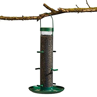 Supa Wild Bird Feeder Hanging Niger Seed Holder with Nyger Tray by Happy Beaks by Happy Beaks