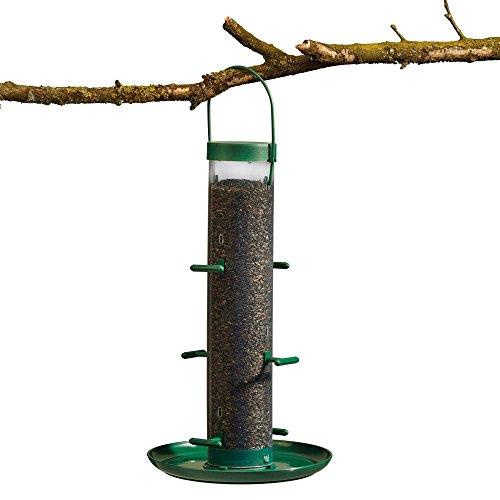 Supa Futterspender für Wildvögel zum Aufhängen mit Sitzstangen und Auffangschale