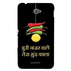ColourCrust Sony Xperia E4 Mobile Phone Back Cover With Buri Nazar Wale Tera Muh Kala Quirky - Durable Matte Finish Hard Plastic Slim Case