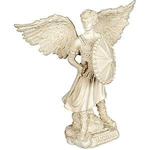 41LwmgGMC8L. SS300  - Angelstar Archangel Michael Figurine, Metal, Multi-Colour, 12.5 x 15.5 x 23.5 cm