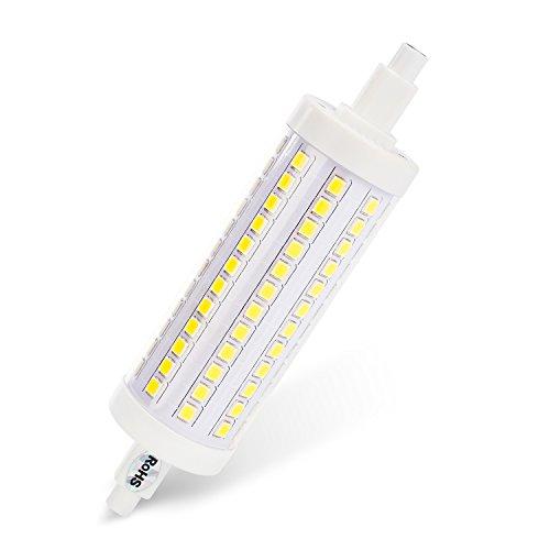 Albrillo 10W LED R7s 118mm LED Lampe dimmbar 108 x 2835 SMD Weiß 6000Kelvin 1000Lumen 360°Abstrahlwinkel