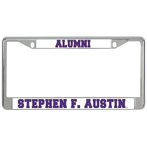 IMG Stephen F. Austin Metal License Plate Frame in Chrome Alumni/Stephen F. Austin