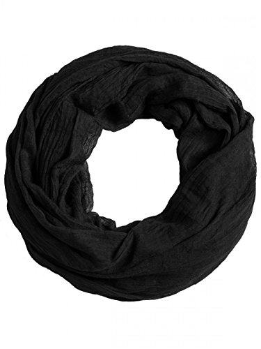 Caspar SC432 Damen Vintage Loop Schal, Farbe:schwarz, Größe:One Size