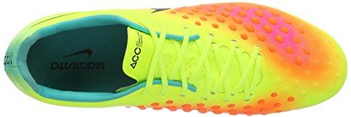 Nike Magista Opus II FG, Chaussures de Football Homme, UK Amarillo (Volt / Black-Total Orange-Pink Blast)