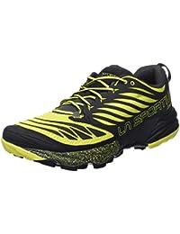 La Sportiva Akasha Trail Running Calzado para Hombre, Multicolor (Negro/Amarillo), 45.5 EU
