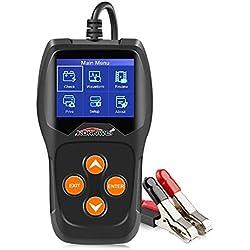 KONNWEI KW600 Testeur de Batterie Automobile Professionnel 100-2000 CCA 220 AH Analyseur de Charge de Batterie de Voiture et testeur d'alternateur pour Voiture/Bateau/Moto