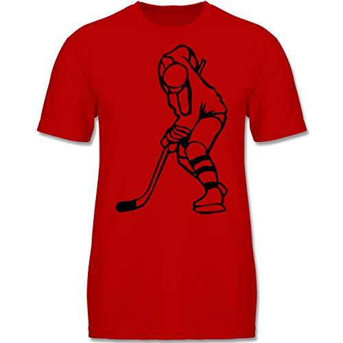 Sport Kind - Eishockey - 152-164 (12-14 Jahre) - Rot - F140K - Jungen T-Shirt