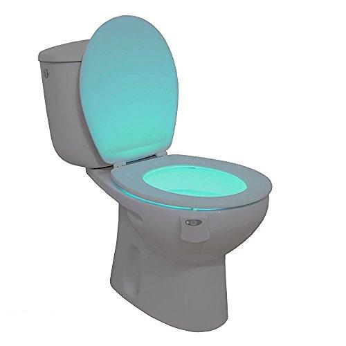 Celyc Lampada a LED per WC, operante in condizioni di scarsa illuminazione o di notte, con cambiamento graduale tra 8 colori, luce delicata e sensore molto sensibile, utilizzabile anche in molti altri luoghi