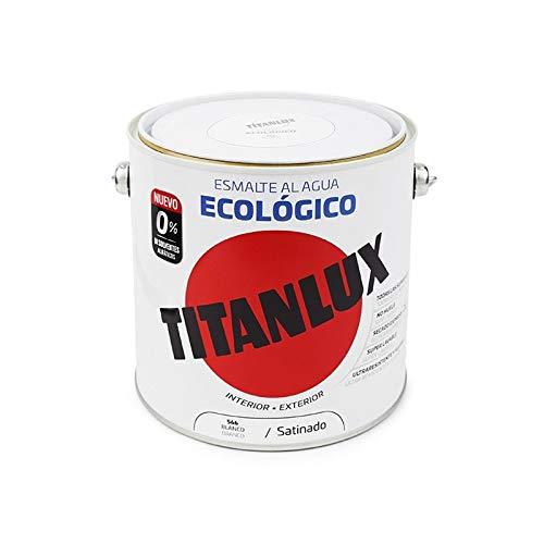 Esmalte al Agua Titanlux Ecológico Satinado - 2,5 L, 566 Blanco