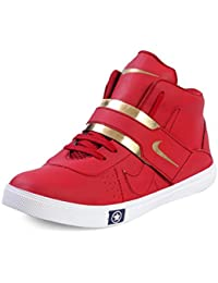 Red Rose Men's Synthetic Leather Boots & Casual Shoes And Sneakers Gold-G-Red, Black & White Shoes