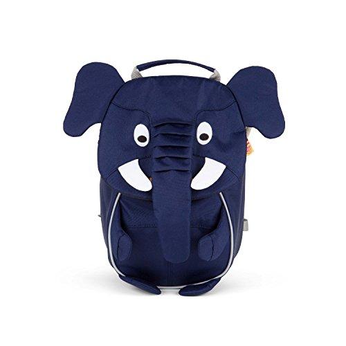 Affenzahn Kinderrucksack für 1-3 jährige Jungen und Mädchen im Kindergarten der kleine Freund Emil Elefant - blau