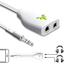 Avantree ADAD-TR302-WHT - Sdoppiatore per cuffie da 3.5mm, per uscite/entrate AUX Stereo cuffie e auricolari forma di Y, cavo adattatore sdoppiatore, per iPhone iPod telefoni Samsung Tablets MP3 Players
