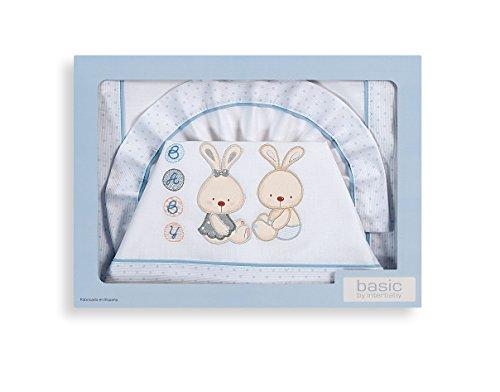 inter-bebe-02040-01-juego-de-cama-para-cochecito-de-nino-mod-conejito-3-piezas-azul