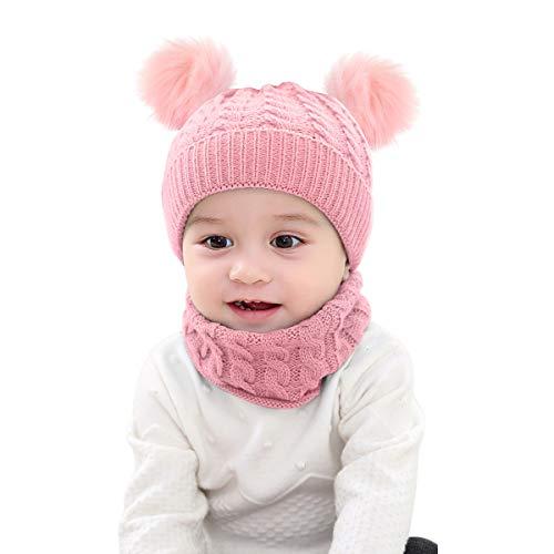 Borlai - Juego 2 Piezas Gorro Invierno bebé, Gorro