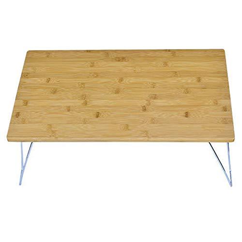 CHENGGUO Outdoor-Klapptisch, tragbarer Mehrzweck-Camping-Grilltisch, tragbarer Grill-Tisch, Bambus-Camping-Klapptisch, tragbarer Schreibtisch für den Haushalt, Abnehmbarer