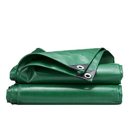 Regendicht-Plane, wasserdicht und dicke verschleißfeste Plane LKW Plane beschichtet, im Freien Hof mit perforierter Plane abgedeckt, verschleißfest und langlebig ( Color : Green , Size : 2*1.5 )
