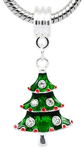 Buckets der Perlen verziert Weihnachtsbaum baumeln Charm Bead passend für die meisten Charm-Armbänder für Frauen (Davinci-perlen-armband)