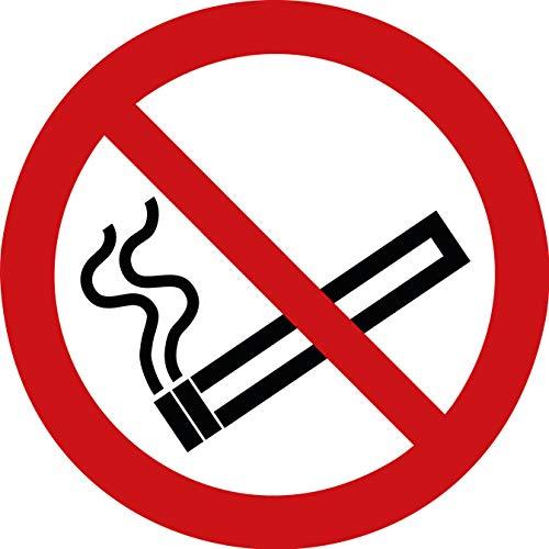 15 Rauchen verboten Aufkleber Rauchen verboten (15 Stück), 95 mm Durchmesser - Rauchverbot Aufkleber, Rauchen verboten Schild überkleben - Nichtraucher P002 - Rauchen-verboten