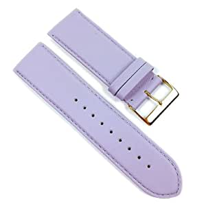 Beach Replacement Band Watch Band Leather Kalf lilac 21701G, width:24mm