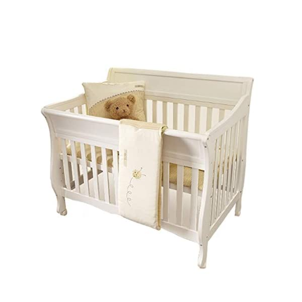 DUWEN-Cot bed Solid Wood Multifunction Baby Cot European Style Cot Bed Toddler Bed Splicing Bed With Wheel (color : White) DUWEN-Cot bed 1. This multifunctional crib is made of environmentally-friendly pine wood. It is tough and durable, not easy to crack. It has a load-bearing capacity of more than 120KG. It is green and non-toxic paint. It is healthy and environmentally friendly. It is harmless to the baby. Mother can buy with confidence. 2. The three pedestal positions of the crib are suitable for the baby's growth stage, improving visibility and ventilation in all directions, selecting the gear according to the baby's body and age, making the space bigger and more comfortable to use. 3. Multi-functional crib can be easily converted into a game bed, children's sofa, designed for healthy sleep of 0-6 years old baby (additional function can be used up to 6 years old), 55mm safety standard guardrail spacing, children's hands and feet will not be stuck 1