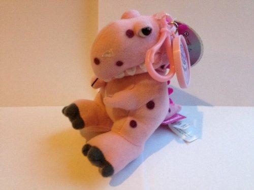 Los dinosaurios Mini llavero de peluche–T-Rex (rosa)