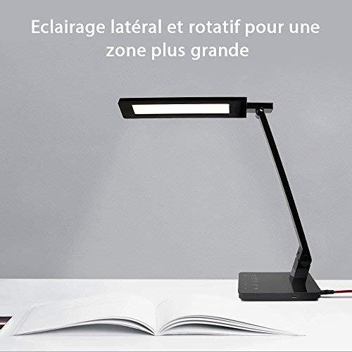Noir Led Eclairage Bureau Lampe Lampe Led Bureau Eclairage XiPZku