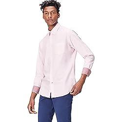 FIND Camisa Clásica Para Hombre, Rosa (Pink), X-Large