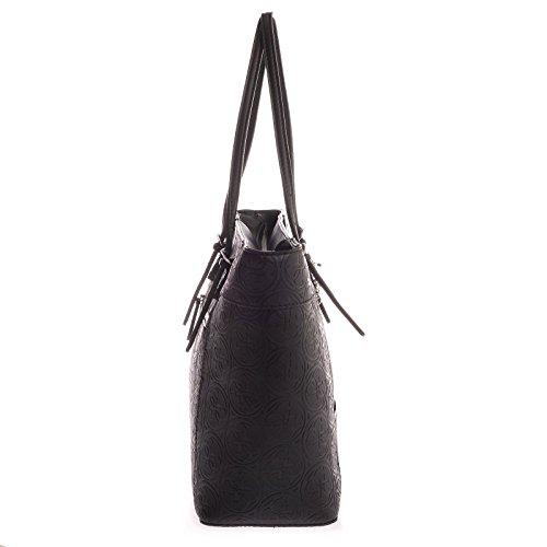 Guess - sac à main cabas Delaney (hwhl4535230) taille 28 cm Noir