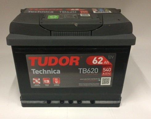 Preisvergleich Produktbild Tudor Exide Technica Fahrzeugbatterie, 62Ah, 12V, 242 x 175 x 190mm, Klemme rechts