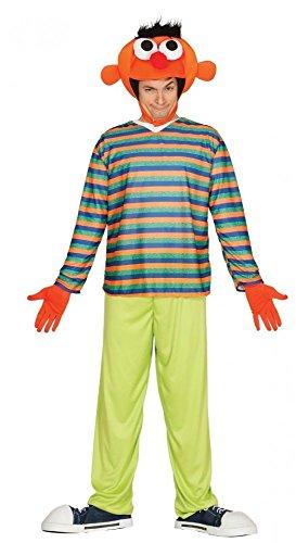 (Ernie Bert Herren-Kostüm Gr. M/L, Namen:Ernie)