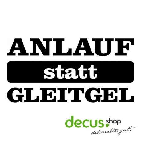 Decus ANLAUF STATT GLEITGEL L 1544 // Sticker OEM JDM Style Aufkleber (Carbon Schwarz)