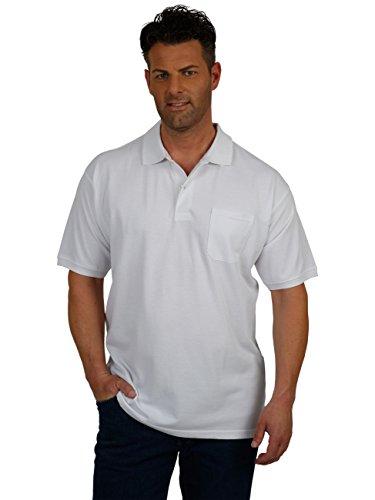 Große Größen - Redfield Herren Poloshirt in Übergröße Weiß