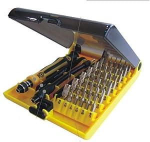 JZK@ 45 tlg Universal Professionellen Handywerkzeug Werkzeugset Schraubendreher Reparatur Set Repair Tool Kit für Smartphone/ Handy/ Laptop/ PC/ iPhone/ MacBook etc, JK-6089b