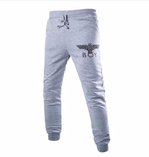 Men's Elastic Waist Casual Sweatpants Trousers gray