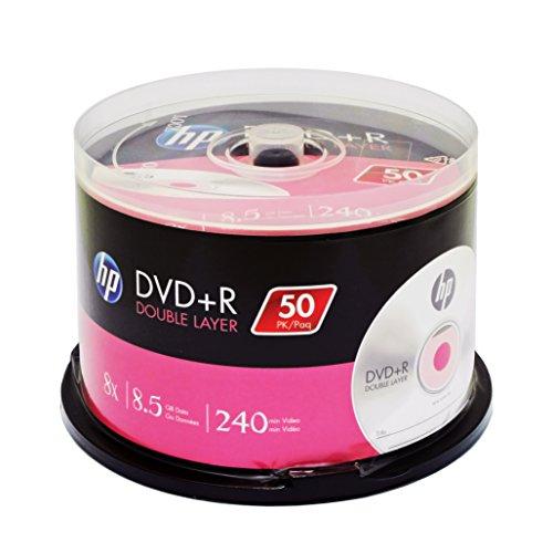 HP DVD + R Double Layer Marken 8x 8,5GB 240Min Video (Hp-media-spindel)