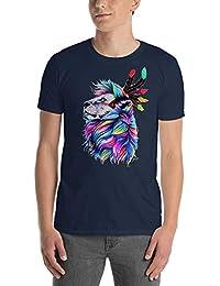 Kurt & Lucan Bunter Löwe T Shirt Loewe Tshirt Bunt