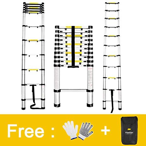 Finether 3.2M Escalera Telescópica de Aluminio,...
