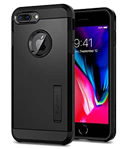 Cover iPhone 7 Plus, Spigen® [Tough Armor] [2nd Generation] iPhone 7 Plus Cover with Kickstand and Extreme Heavy Duty Protection and Air Cushion Technology for iPhone 7 Plus (2016) - Black - 055CS22246