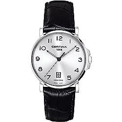 Certina 205A C017.410.16.032.00 - Reloj para hombres, correa de cuero color negro