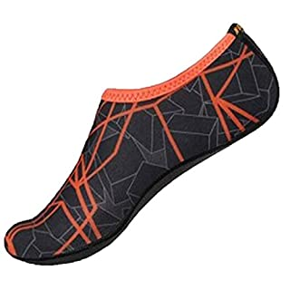 XINXINYU Men's Socken Schuhe, Unisex Tauchen Schwimmschuhe } { Quick-Dry Aqua Socken Schuhe } {Casual Surf Yoga Wasser Weich Schuhe Aerobic } (M, Grau)