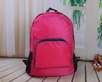 luce portatile del borsone da viaggio, uomini e donne, borsa a tracolla impermeabile all'aperto lo zaino di ultraleggeri (blu) ( colore : Red Rose ) Red Rose