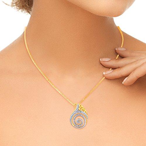 Giantti 14carats Diamant Pendentif Femme Collier (0,82CT, VS/Si-clarity, Gh-colour)