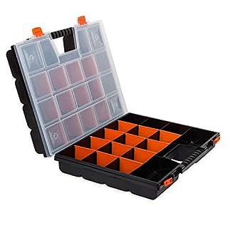 DUO 16 zweiseitiger Organizer herausnehmbare 34 Unterteilungen Werkstattkoffer Box