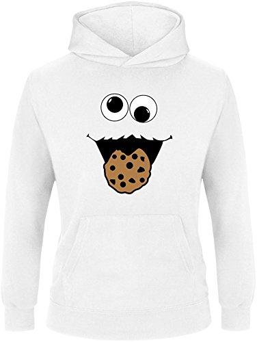 EZYshirt® Cookie Monster Kinder Hoodie | Kinder Kapuzenpullover | Kinder (Cookie Monster Hoodie)