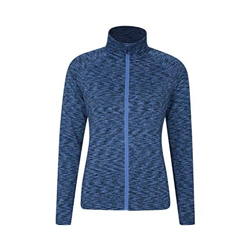 41Lx0BQucxL. SS500  - Mountain Warehouse Bend & Stretch Womens Full Zip Midlayer Jacket - Lightweight Ladies Sweatshirt, Breathable Pullover - Best for Spring Walking, Travelling, Camping