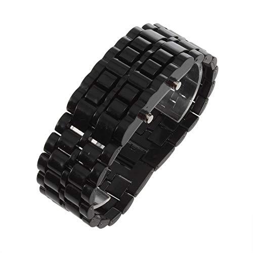 Mann Kostüm Lava - Männer Frauen Lava Eisen Samurai Kunststoff Super Helle LED Armbanduhr Armbanduhr Sport Stil Zeit Anzeige