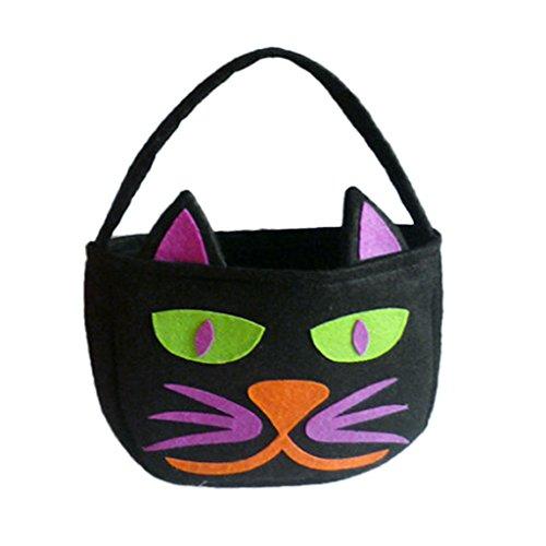 Halloween Party Trick Oder Kürbis Tasche Kinder Tasche Geschenk Beutel Süßigkeiten - Schwarze Katze , Style 10