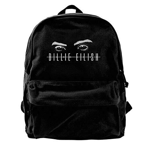 Billie Eilish Backpack Unisex Classic School Bookbags Canvas Backpack Travel Bag Duffel Bag 14Inch Laptop Bag Purse for Boy's Girl's